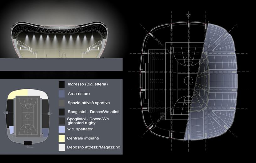 Planimetria e individuazione spazi Sezione