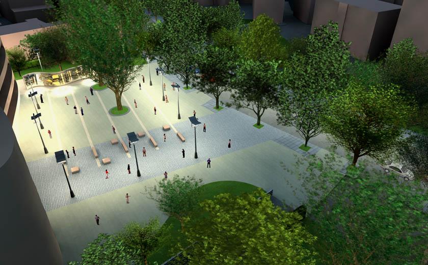 Render spazio pubblico