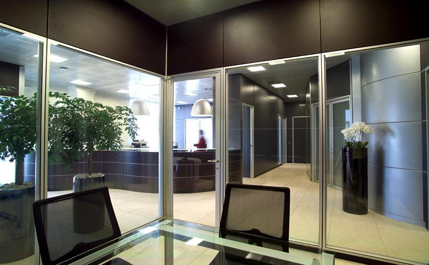 Uffici chiusura a vetri